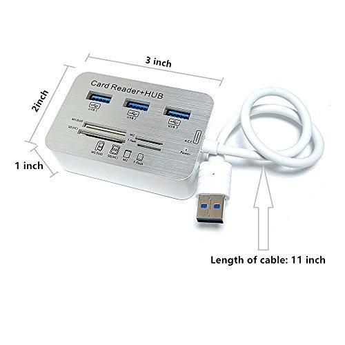 ERCRYSTO USB3.0 Card and 3 Hub, External Memory