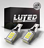 LUYED 2 X 1550 Lumens Extremely Bright Error Free 921 912 W16W 3030 24-EX Chipsets LED Bulbs Used For Backup Reverse Lights, Xenon White