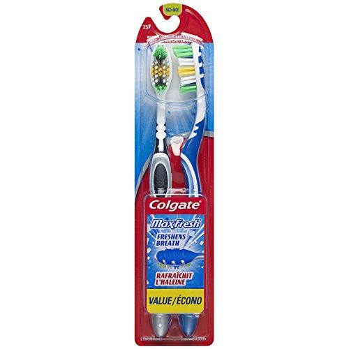 Colgate Max Fresh Full Head Adult Toothbrush, Medium – Twin Pack