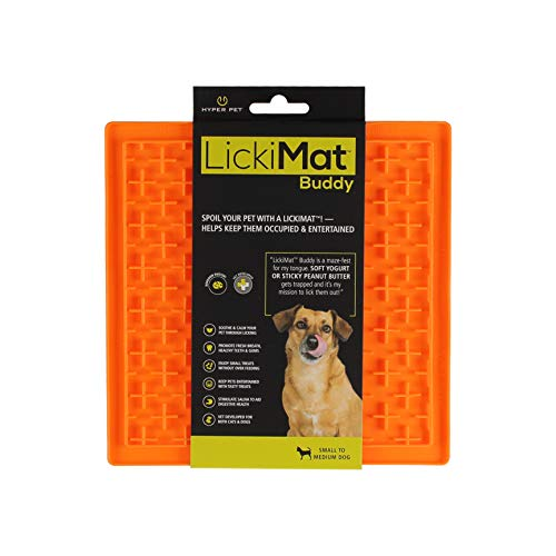 (Hyper Pet Lickimat Slow Feeder Dog Mat for Food & Treats (Fun Alternative to Slow Feeder Dogbowls) [Boredom Buster Calming Companion for Dogs & Cats] )