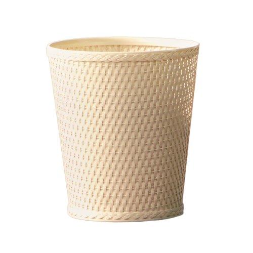 ound Wicker Waste Basket, Linen (10.5 Round Basket)