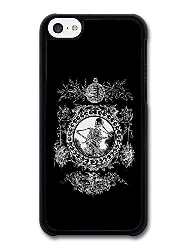 Skeleton Frame Grunge Goth Retro Vintage Black and White Illustration case for iPhone 5C