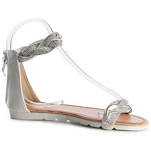 topschuhe24 - Sandalias de vestir para mujer plata