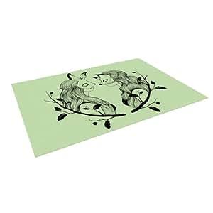 "Kess InHouse Jaidyn Erickson ""Foxybuns"" Outdoor Floor Mat/Rug, 5 by 7-Feet"