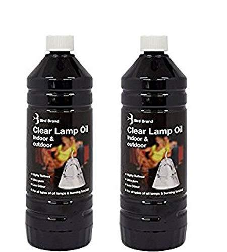 Indoor Lamp Oil X 2 Premium 1Ltr Refined Lantern, Lamp Torch Oil. Ideal for Indoor or Outdoor Events RK & J Jones Ltd