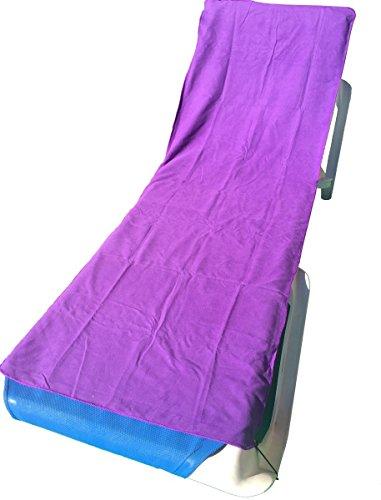 YISAMA Microfiber Lounge Towel for Beach and Pool Color Purple