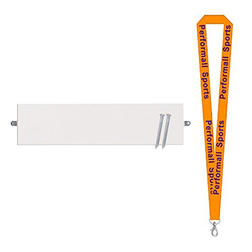 Champion Sports Official Size Pitcher's Plate White Bundle with 1 Performall Lanyard RP81-1P by Champion Sports