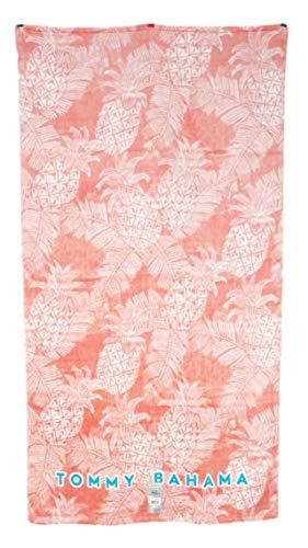Tommy Bahama 35 x 66 Peach Salmon Pink Pineapples & Palm Tree Fronds Beach - Bahama Towel Beach Home Tommy