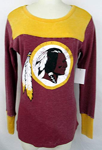 G-III Sports Womens Touch Washington Redskins Graphic Thermal Long Sleeve Shirt, Size XL/Extra Large