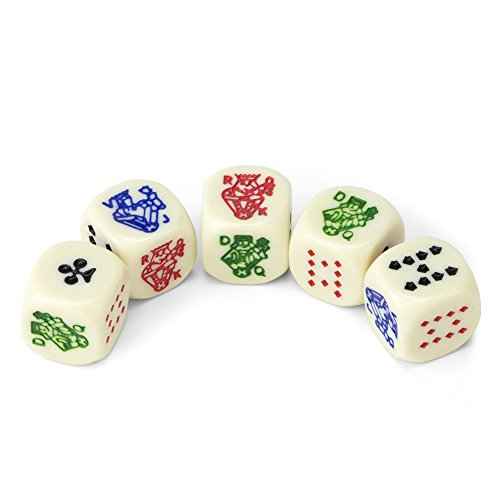 Buy rounded dice red pair