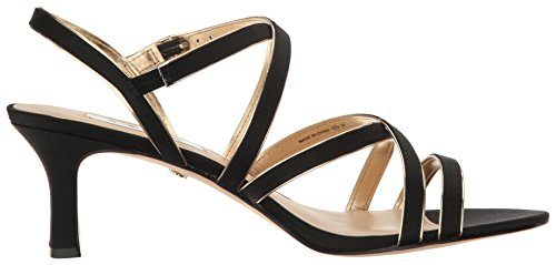 Women's Dress Sandal Nina Soft Black Ls Genaya Gold PA7wxdO