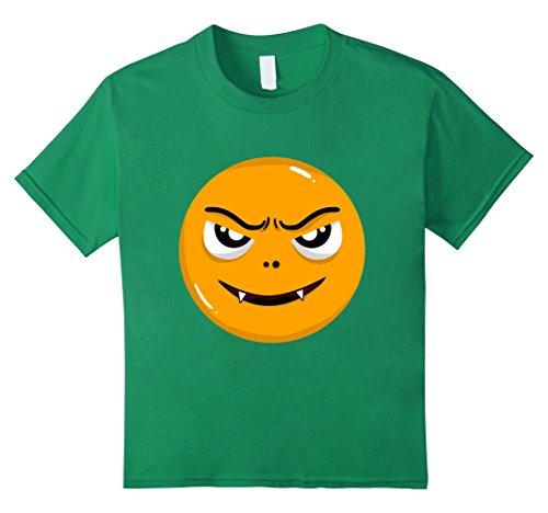 Naughty School Boy Costumes (Kids Halloween Naughty Emoji Funny Costume T-Shirt 10 Kelly Green)