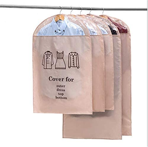 ZXWCYJ Oxford Garment Bags Suit Bag Light Weight Moth-Proof Suit BagsSturdy Washable Suit Cover for SuitsDressesCoats 3 PackKhakiLarge