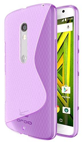 imo [Wave] Premium Slim TPU Flexible Soft Case for Motorola Verizon DROID MAXX 2 / Moto X Play (2015) - Purple ()