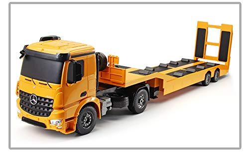 Double E Rc Tow Truck Licensed Mercedes Benz Acros Detachable Flatbed Semi Trailer Engineering Tractor Remote Control Trailer Truck Electronics Hobby Toy With Sound And Lights Santabilt