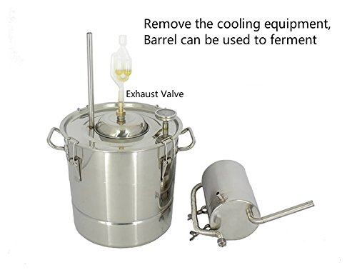 20 Litres DIY 2 Pots Moonshine Still Home Distiller for Making 304 Stainless Steel Wine Alcohol Distiller Fermentation Barrels With Water Pump by AIMIEE_JL (Image #2)