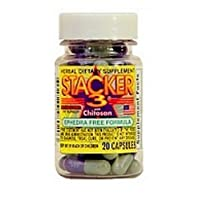 Stacker 3 Metabolizing Fat Burner, with Chitosan, Capsules, 20 capsules