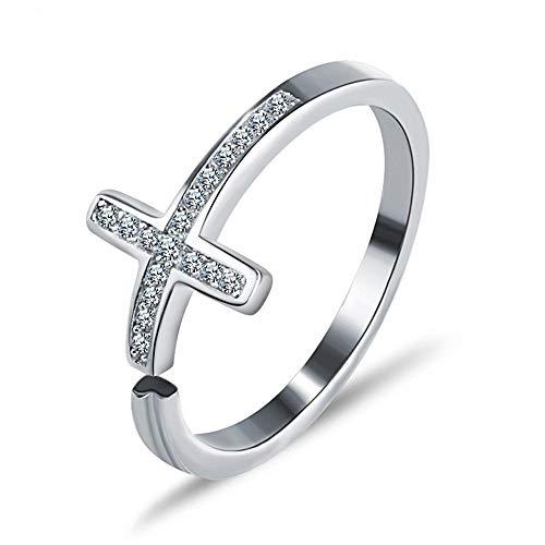 Weiwei Men Ring Rings Lady Ring Cross Open Ring (Cross Ring Diamond Purity)