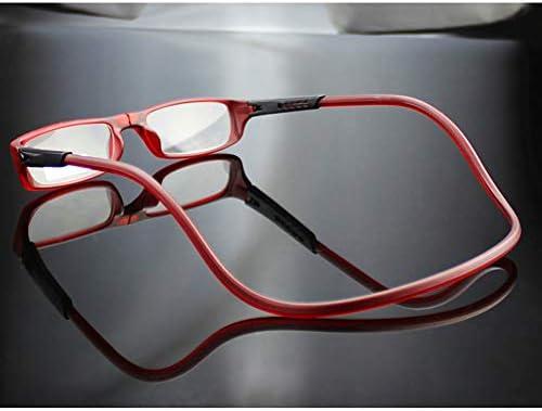 老眼鏡女性/メンズ1.0、磁石で着脱 マグネット式調節可能、PC素材、HD樹脂レンズ、取り外し可能、首周りのぶら下げ(ワインレッド、ブラウン)