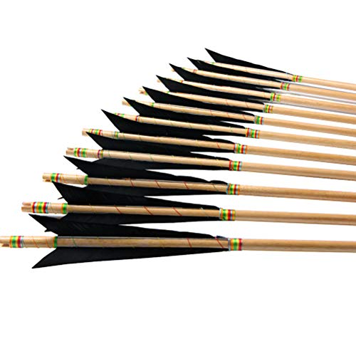 (PG1ARCHERY Archery Wooden English Longbow Arrows Practice Targeting Arrow 5.8
