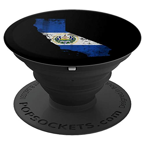 California El Salvador Flag - PopSockets Grip and Stand for Phones and Tablets ()