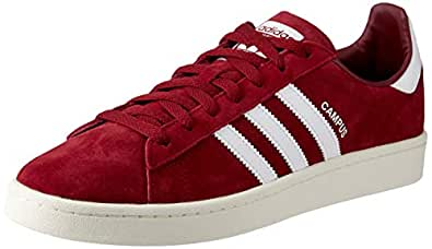 adidas, Campus Trainers, Men's Shoes, Collegiate Burgundy/White/ChalkWhite, 7 US