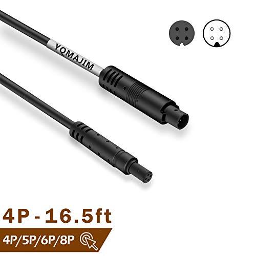 Backup Camera Extension Cable,4 Pin 16.5Ft Dash Cam Cord Car Dash Camera Rear View Camera Cord Wires (5P 6P 8P Dash Cam Cord Search YQMAJIM)