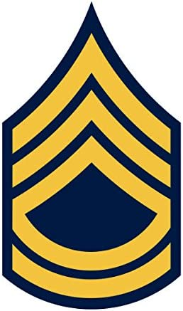 Sticker U.S.Army Sergeant 1st Class Rank Insignia Decal