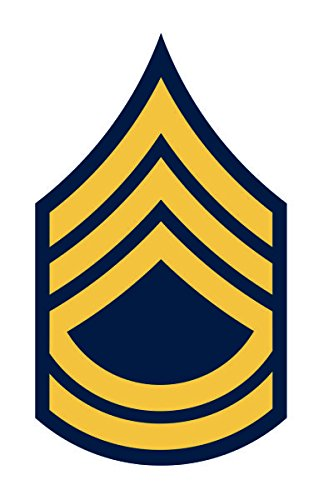 United States Army Sergeant First Class Sfc E-7 Rank Insignia Vinyl Sticker Decal