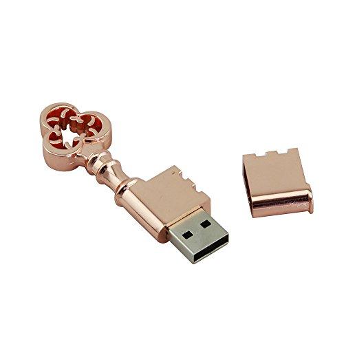 CHUYI 20PCS Waterproof Metal Rose Gold Key Shape 8GB USB 2.0 Flash Drive Pen Drive Memory Stick USB Stick USB Drive Thumb Drive Gift by CHUYI (Image #2)
