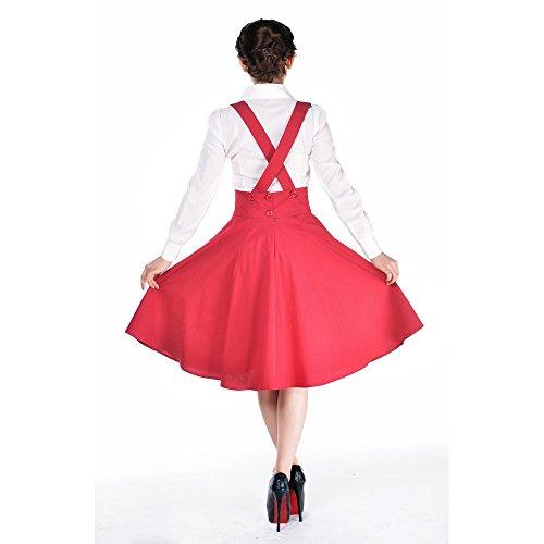 Tirantes negro tirantes de elegante estrella Rojo 1950 estilo Punk gótica falda