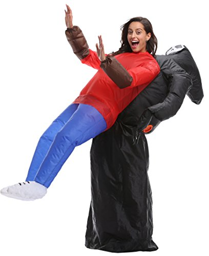 Perfect Corset Adult Inflatable Blowup Halloween Costumes Fancy Dress Outfits, Skeleton