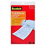 Scotch TP3855-20 Thermal Laminating Pouches, 8.5 in x 14.0-Inch pouches, Legal Size, 20 Count (Clear)