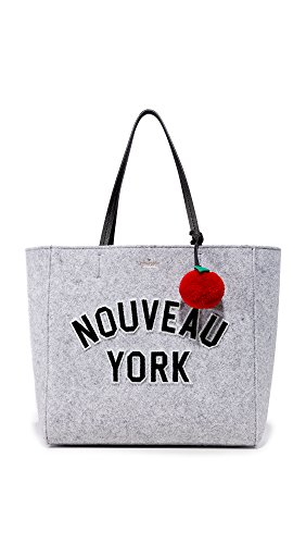 Kate Spade New York Women's New York Hallie Tote, Light Charcoal, One Size by Kate Spade New York