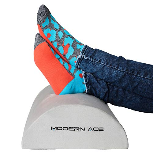 Ergonomic Foot Rest Under Desk - Foot Rest Cushion, Ergonomic Footrest Designed for Support at Office, Home & Travel, Enhanced Resilient Comfort Foam, Non Slip Surface & Optimal Leg (Extra Comfort Footrest)