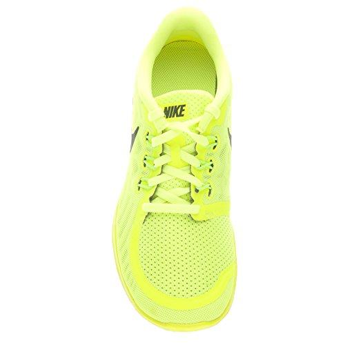 Boy's Nike Free 5.0 Running Shoe (GS) Volt/Black Size 6 M US
