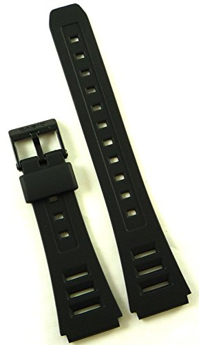 Casio Black Resin Watch Band-19mm