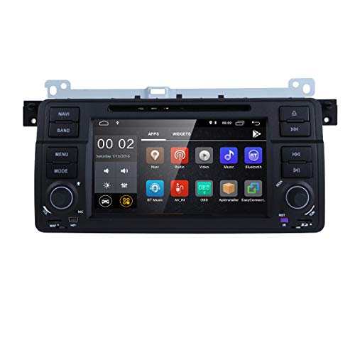 Android 8.1 OS Quad Core 1024600 HD Touchscreen Car Radio DVD Player with GPS Navigation fit for BMW 3 Series E46 M3 318 320 325 330 335