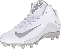 Nike Men\'s SpeedLax 5 Men\'s Lacrosse Football Cleat - White/Silver (11 D(M) US, White/MTLLC Silver)