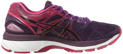 Gel Nimbus Winter Asics Black Mujer de Pink Negro Cosmo Bloom 19 para Zapatillas Running fqxnw1FnCS