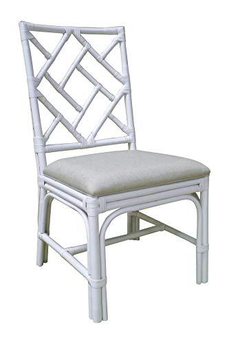 East At Main June Chair, White, White (Kitchen Rattan Chairs White)