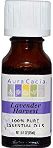 Aura Cacia, 100 Pure Essential Oils, Lavender Harvest, 0.5 fl oz (15 ml)