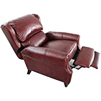 Barcalounger Treyburn ll Manual Push Back Recliner Chair Savannah Whiskey Top Grain Leather