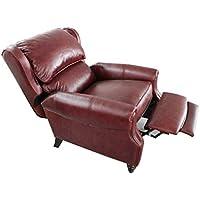 Barcalounger Treyburn ll Manual Push Back Recliner Chair Savannah Whiskey Top Grain Leather