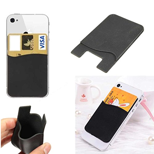 Deet Étui en silicone avec fente pour carte de crédit à fixer sur Apple iPhone 6 Noir