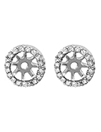 0.25 Carat (ctw) Round Diamond Removable Jackets for Stud Earrings 1/4 CT