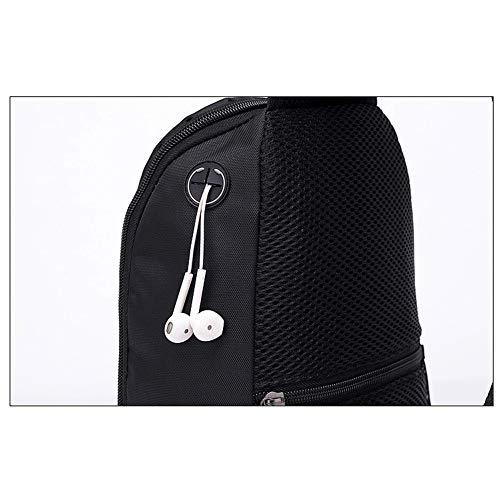 Hombres Viento de USB negro con Carga de y Mujeres Negro Bandolera Puerto Wind para Bolsa Goal xwIP1q10