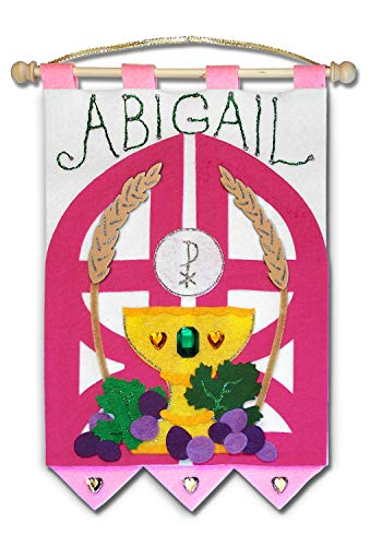 First Communion Banner Kit - 9 x 12 - Gates - Pink