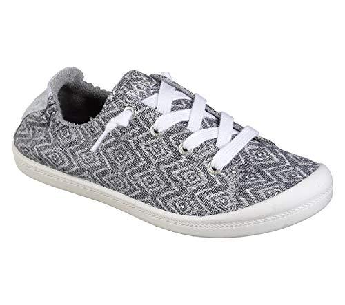 Skechers BOBS Beach Bingo Water Baby Womens Slip On Sneaker Black/White Deal (Large Image)