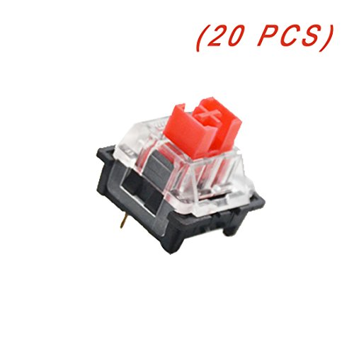 OUTEMU (Gaote) Red Switch 3 Pin Keyswitch DIY Replaceable Switches for Mechanical Gaming Keyboard (20 PCS)